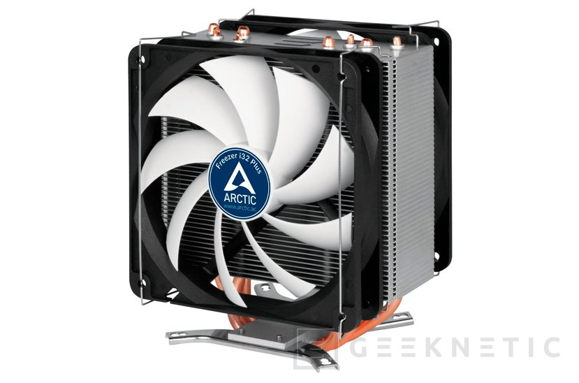 Doble ventilador para el disipador semi-pasivo Arctic Freezer i32 Plus, Imagen 1