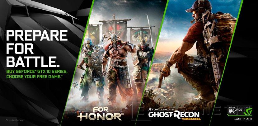 Los compradores de una GTX 1060 también recibirán el For Honor o Ghost Recon: Wildlands, Imagen 1