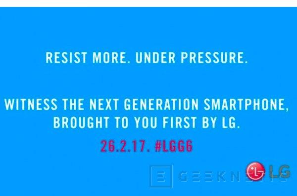 El LG G6 será resistente al agua, Imagen 1