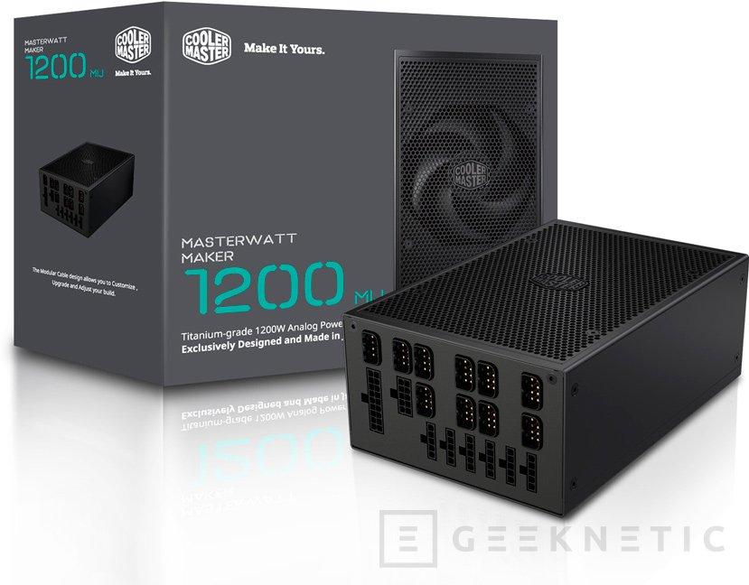 La exclusiva fuente MasterWatt Maker 1200 MIJ de Cooler Master costará 999 Euros, Imagen 1