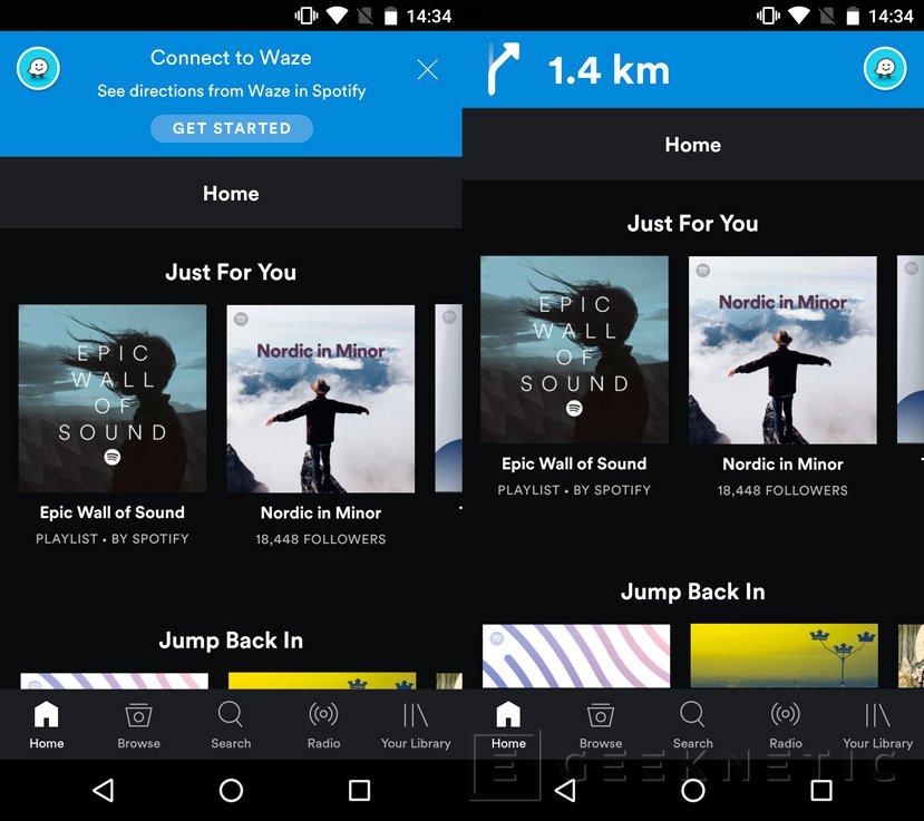 Spotify se integra en el navegador GPS Waze, Imagen 1