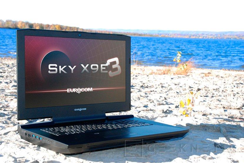 Eurocom anuncia su portátil Sky X9E3 con dos GTX 1080 y un Core i7-7770K de sobremesa, Imagen 1