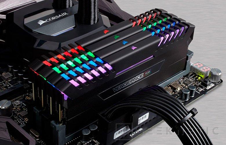 Las memorias DDR4 Corsair Vengeance ya disponibles con iluminación RGB, Imagen 1