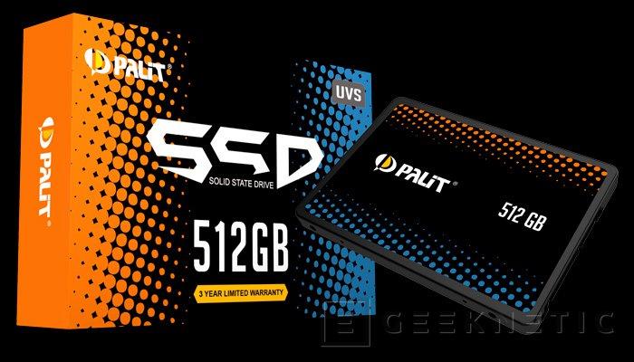 Palit entra en el mercado de SSD con modelos con memorias 3D TLC y 3D MLC, Imagen 1