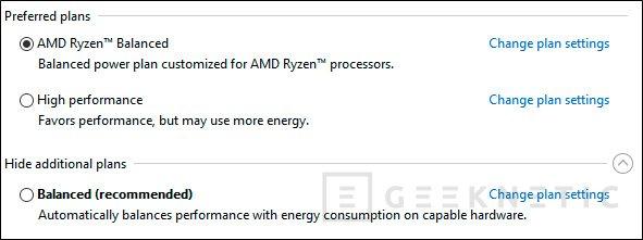 AMD ha creado un perfil de energía específico para Ryzen y Windows 10, Imagen 2