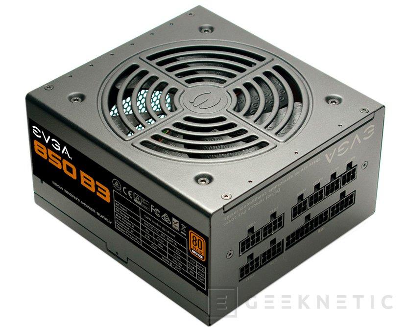 Las fuentes EVGA B3 llegan con formato compacto y eficiencia 80 PLUS Bronze, Imagen 1