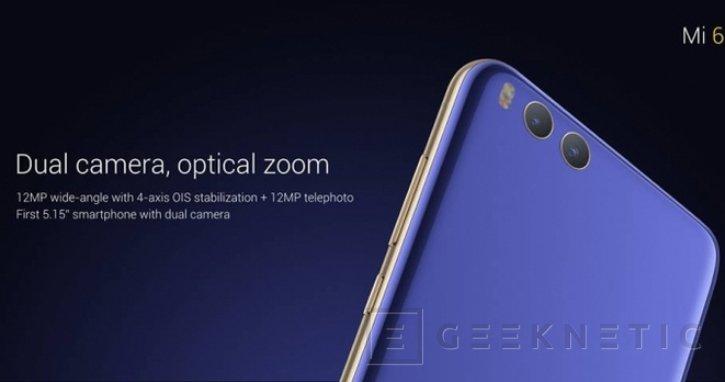 El Xiaomi Mi 6 llega con doble cámara y el potente Snapdragon 835 , Imagen 2