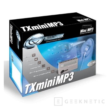 TX Mini MP3 más completo y reducido reproductor de Traxdata, Imagen 1