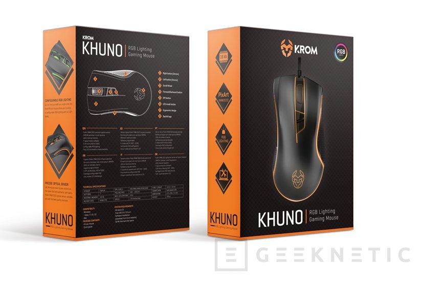 Krom Khuno, un ratón gaming con RGB y precio ajustado, Imagen 2