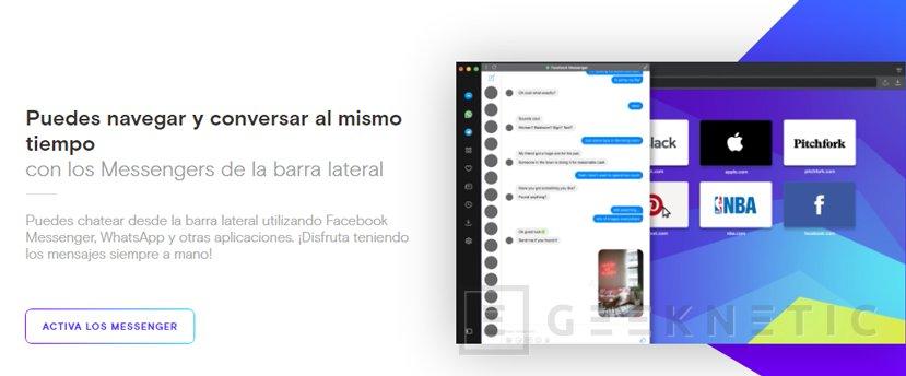 Opera integra Whatsapp, Telegram y FB Messenger en su última actualización, Imagen 1