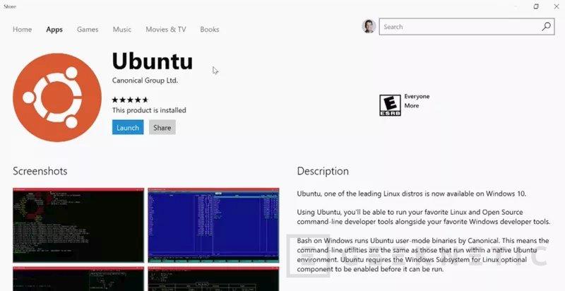 Ubuntu llegará a la tienda de aplicaciones de Windows 10, Imagen 1