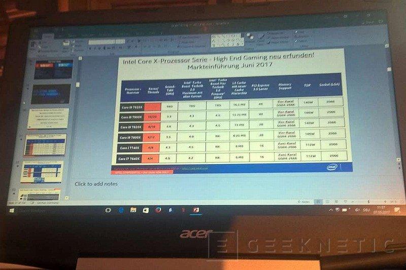 Skylake-X estrenará la marca Intel Core i9, estas son sus especificaciones, Imagen 1
