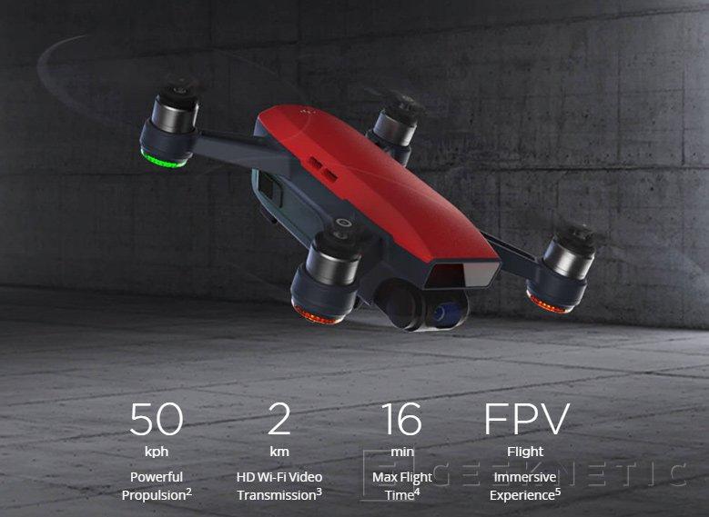 DJI anuncia Spark, un pequeño drone con control por gestos, Imagen 2