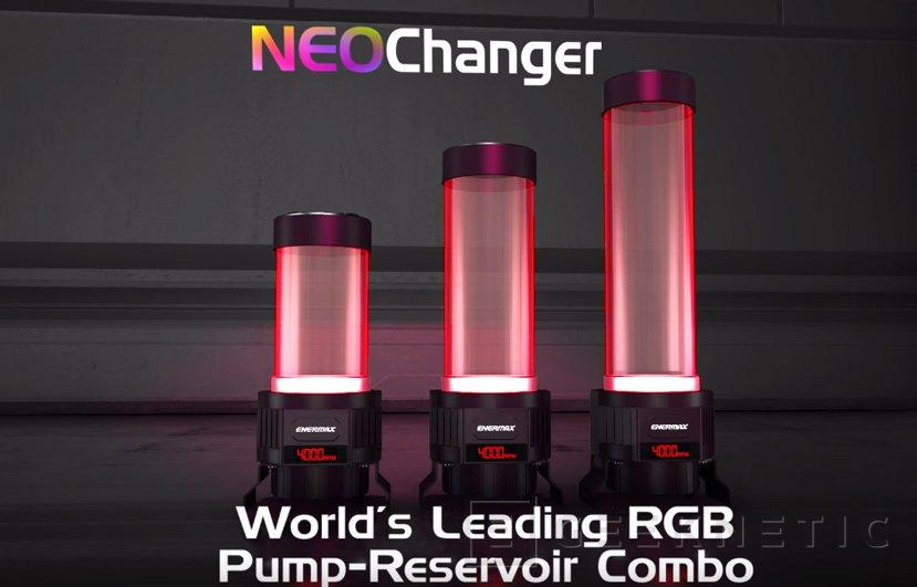 Enermax combina depósito y bomba de refrigeración líquida con su  NEOChanger, Imagen 2