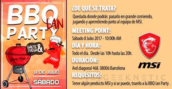 MSI celebra un evento BBQ LAN Party en Barcelona y hoy es el último día para apuntarse, Imagen 1