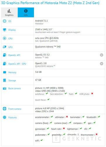 El Moto Z2 tendrá un Snapdragon 835 y 4 GB de RAM, Imagen 1