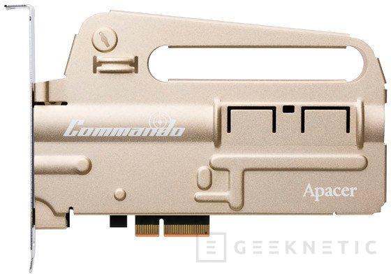 Apacer PT920 Commando, un SSD NVMe con forma de fusil de asalto, Imagen 1