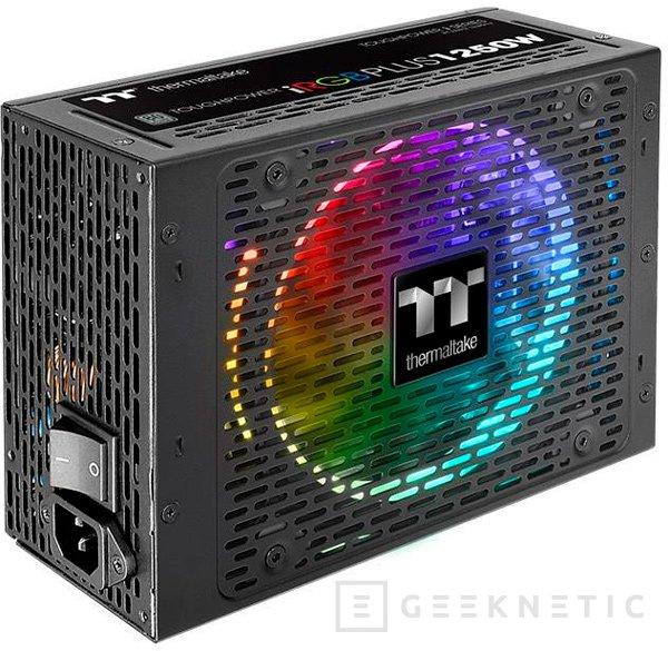 La fuente Thermaltake ToughPower iRGB PLUS de 1250W también tiene RGB, Imagen 1