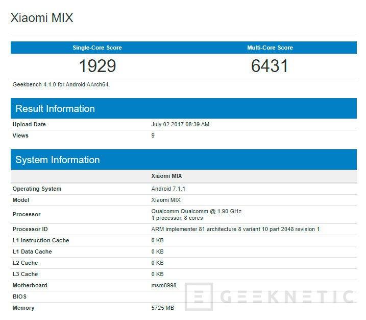 El Xiaomi Mi Mix 2 tendrá un Snapdragon 835 y pantalla curvada, Imagen 2