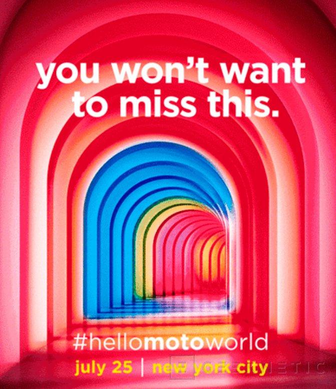 Motorola desvelará un nuevo smartphone el 25 de julio, Imagen 1