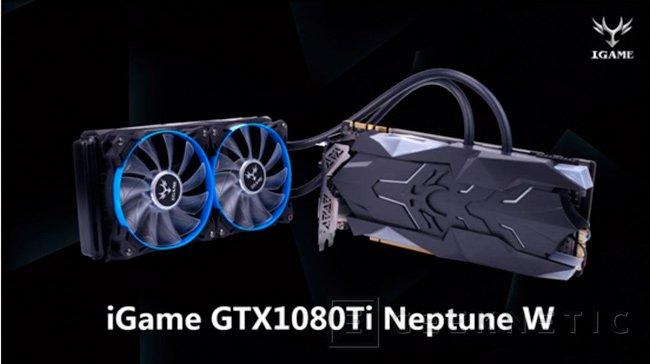 Colorful iGame GTX 1080 Ti Neptune W con doble radiador de refrigeración líquida, Imagen 1