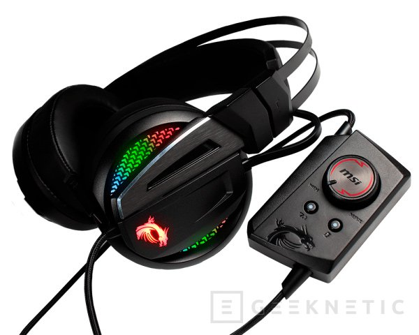 Así son los Immerse GH70, los nuevos auriculares gaming con RGB de MSI, Imagen 1