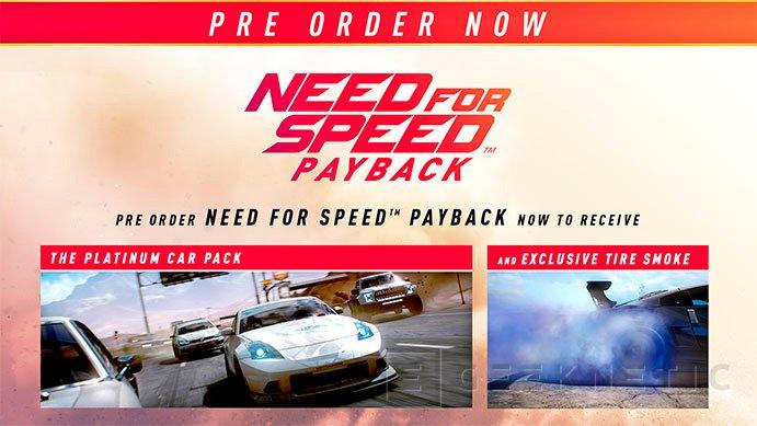 Los que reserven el Need for Speed: Payback tendrán más efectos gráficos, Imagen 1