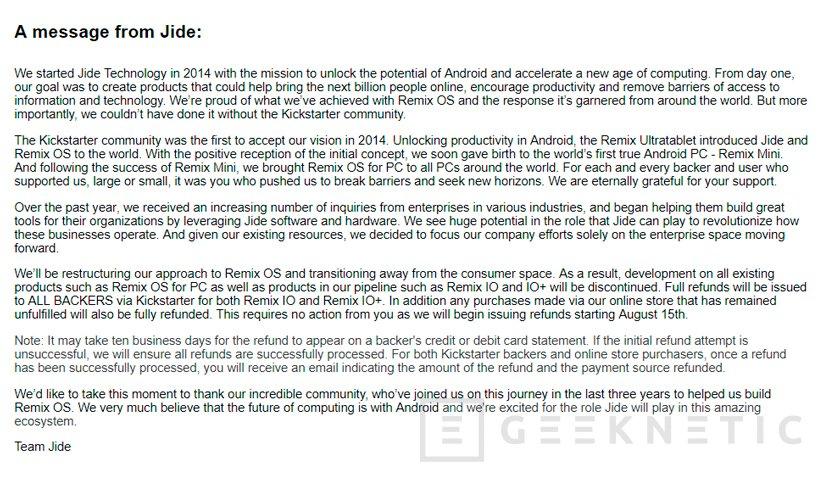 Jide cancela definitivamente Remix OS, Imagen 1