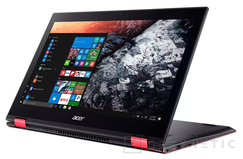 Acer Nitro 5 Spin, un portátil convertible con toques gaming, Imagen 1