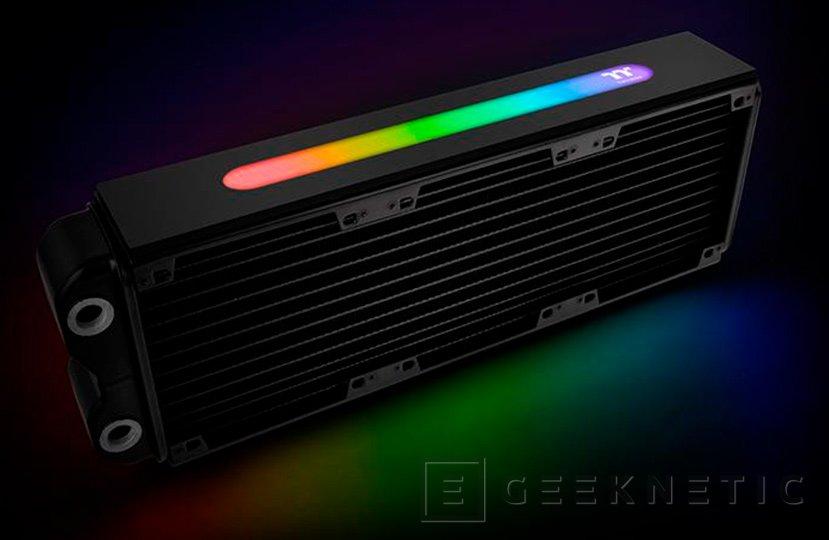 El Thermaltake Pacific RL360 Plus trae la iluminación RGB a los radiadores de RL, Imagen 1