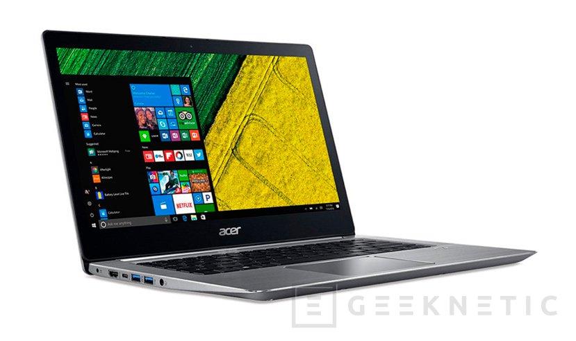El ACER Swift 3 es el primer portátil con Coffee Lake y la GTX MX150, Imagen 1