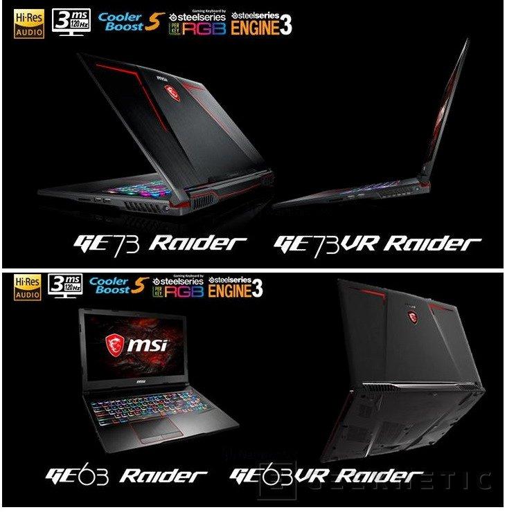 Los portátiles gaming MSI GE63VR y GE73VR Raider tendrán pantallas de 120HZ con HDR, Imagen 1