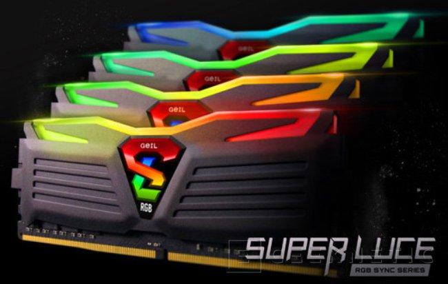 GeIL añade iluminación multicolor a sus memorias DDR4 Super Luce RGB SYNC, Imagen 1