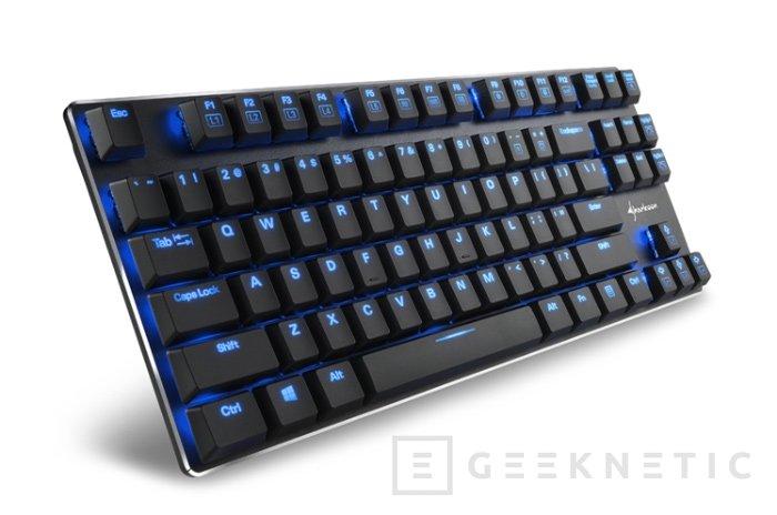 Llega a España el teclado mecánico compacto Sharkoon PureWriter TKL, Imagen 1