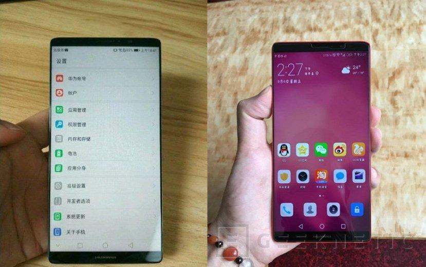 Así luce el Huawei Mate 10 con su pantalla sin marcos, Imagen 1