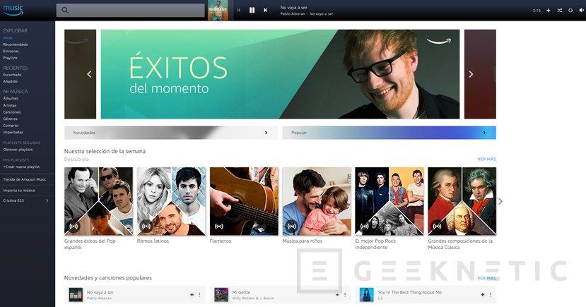 El servicio de música en streaming Amazon Music Unlimited llega a España, Imagen 1