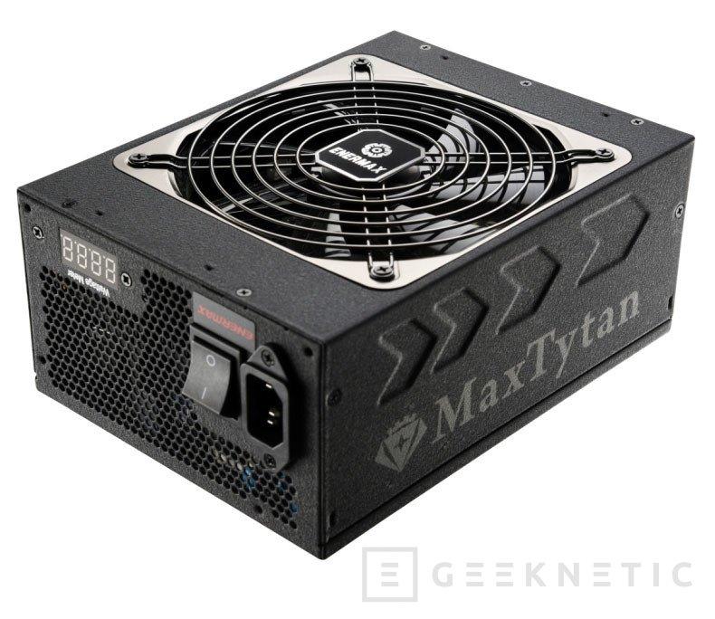 Enermax lanza dos fuentes MaxTytan con certificación 80 PLUS Titanium, Imagen 1