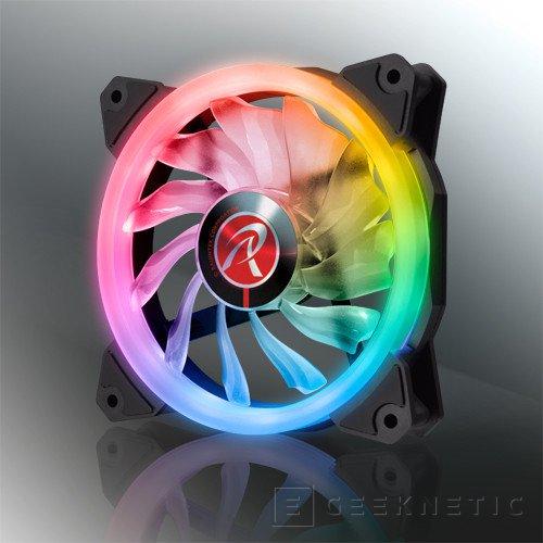 Raijintek amplía su gama de ventiladores con los Iris 12 Rainbow RGB, Imagen 1
