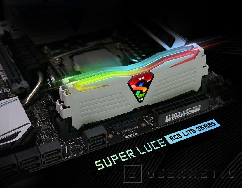 GeIL anuncia sus memorias DDR4 Super Luce RGB Lite, Imagen 1