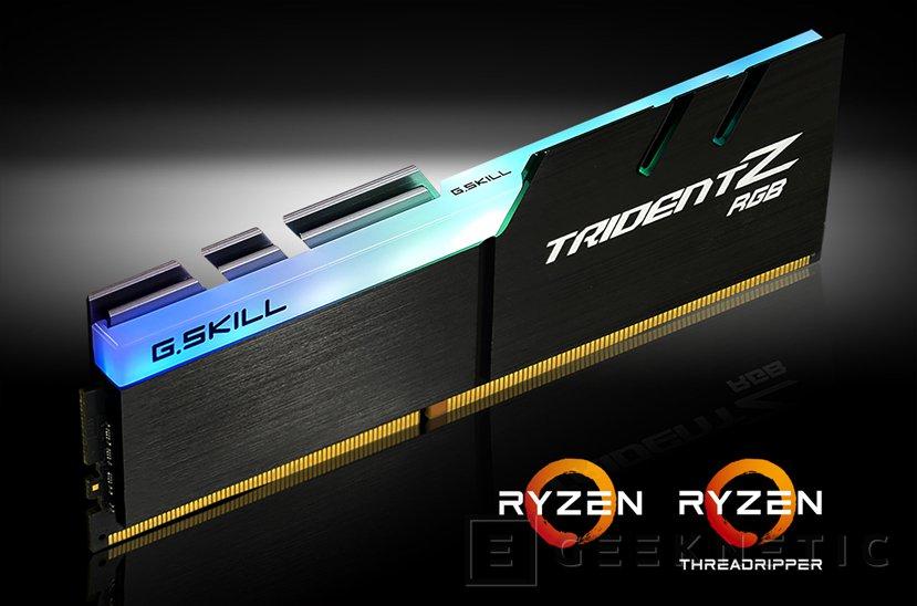 G.Skill crea una edición optimizada para AMD Ryzen de sus Trident Z RGB , Imagen 1