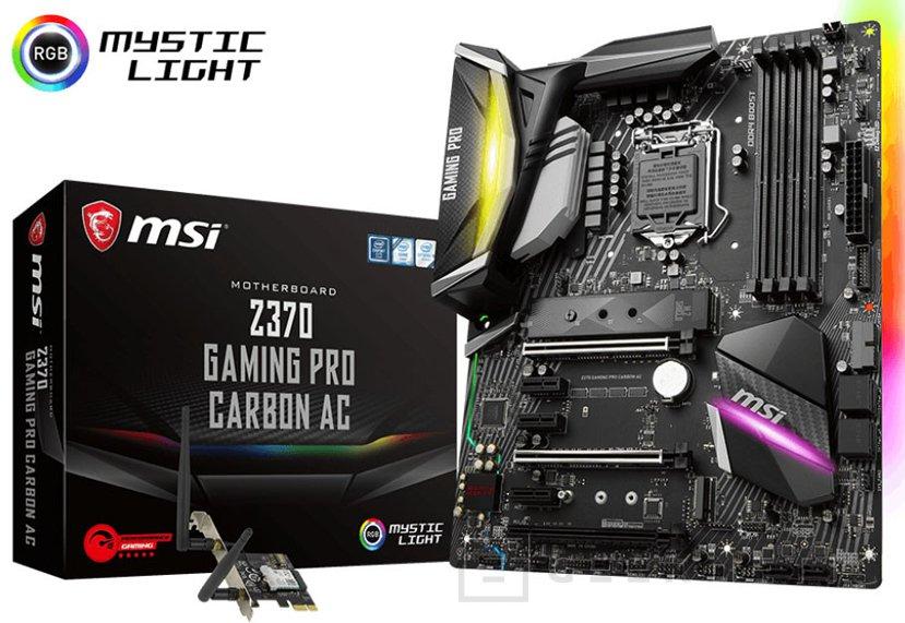 MSI anuncia su placa base Z370 Gaming Pro Carbon AC para Coffee Lake, Imagen 1