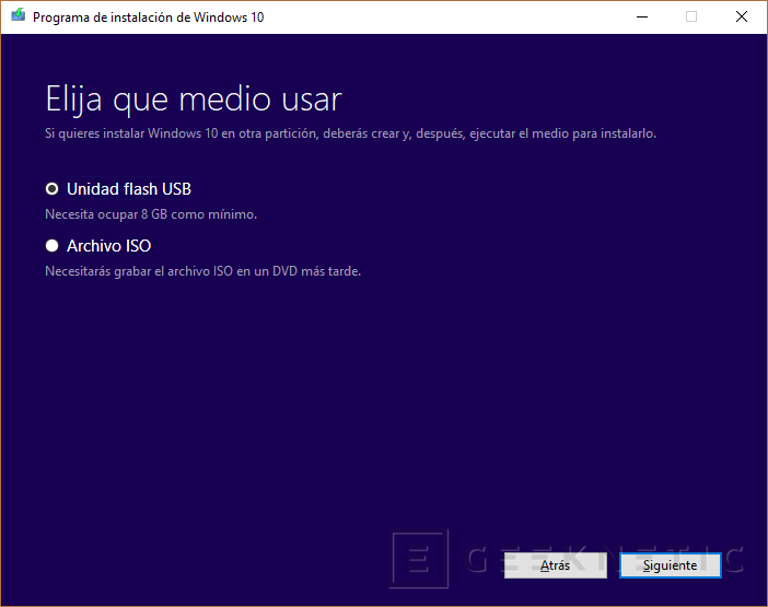 Windows 10 Usar medios