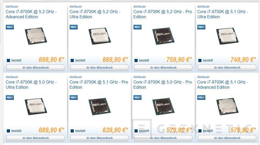 La tienda alemana Caseking vende Core i7-8700K modificados para mejorar el overclock, Imagen 1
