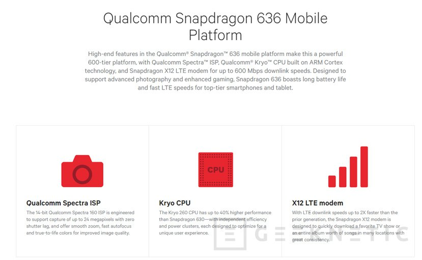 Qualcomm anuncia su Snapdragon 636 para potenciar la gama media, Imagen 1