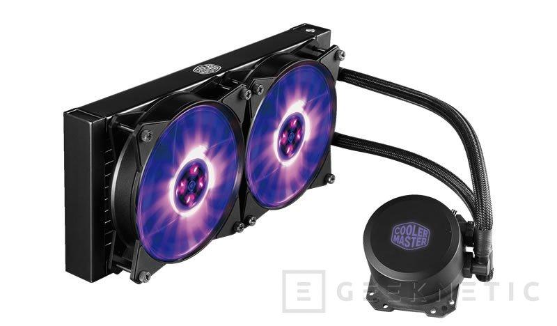 Cooler Master añade iluminación RGB a sus refrigeraciones líquidas MasterLiquid, Imagen 1