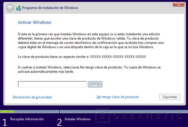Claves Windows 10