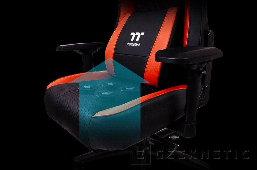 Thermaltake quiere que tengas el culo fresco con su última silla gaming, Imagen 1