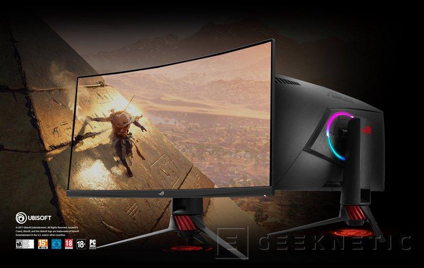 El ASUS ROG Strix XG32VQ es un monitor de 32 pulgadas con panel curvado, Imagen 1