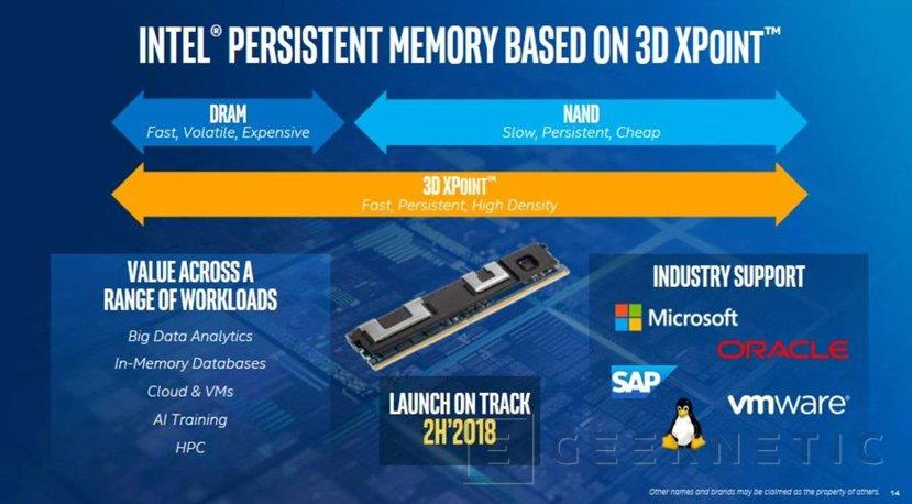 Los módulos DIMM de Intel Optane llegarán en el 2018, Imagen 1