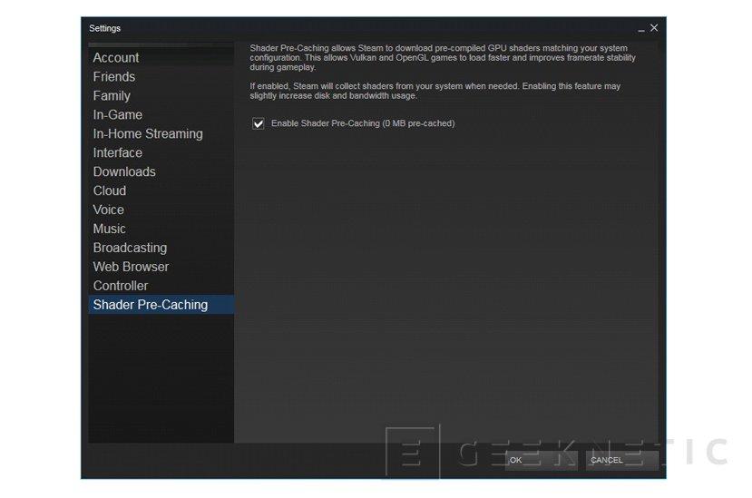 Steam podrá precargar los shaders de los juegos con Vulkan y OGL, Imagen 1
